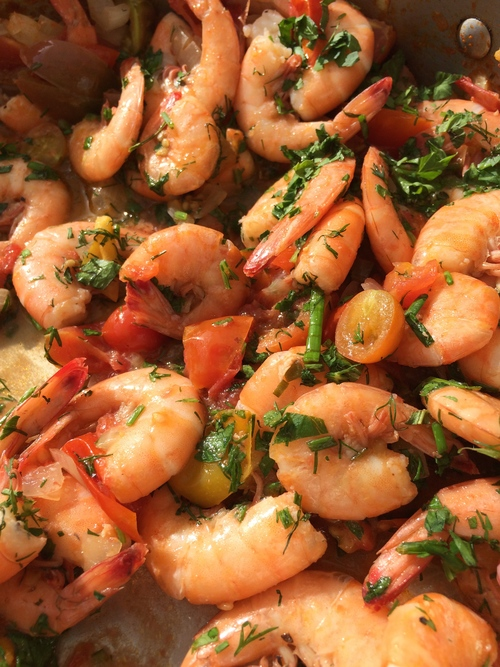 shrimp&tomatoes